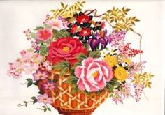 image size 12 - x Tokyo kits have numbered line drawings and numbered threads but no English instructions. Line Drawing, Fiber Art, Floral Wreath, Japanese, Display, Embroidery, Drawings, Prints, Voici