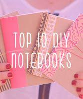 DIY Notebooks COTE GRAPHIQUE LES COULEURS LE BEAU PAPIER SUR LA PARTIE GAUCHE QUI DONNE UN COTE FINI