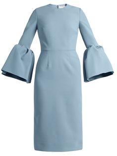 Margot bell-sleeved crepe dress | Roksanda | MATCHESFASHION.COM
