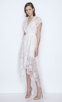 White lace dress from Lover the label. Simple alternative wedding dress.