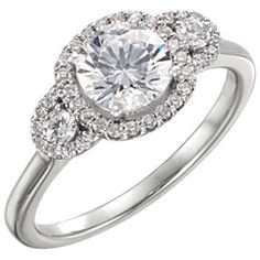 14kt White 1/4 CTW Diamond Semi-mount Engagement Ring for 6.5mm Round Center #Bridal #Engagement locate a jeweler here: http://www.stuller.com/locateajeweler?searchTerm=locate%20a%20jeweler