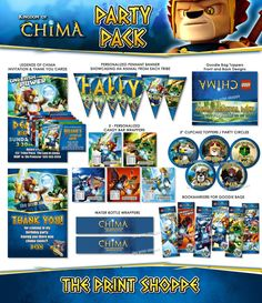 YOU CHOOSE Legends of Chima Party Pack  by ThePrintShoppeOnEtsy, $30.00
