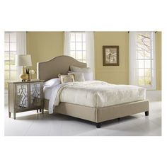 Leo Upholstered Panel Bed