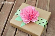 How to make Crepe Paper Flowers for gift boxes or other decor ideas.