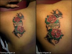 Tatuering, skuldra - barn och hundens namn med rosor och svalor Anchor Tattoos, Model Pictures, Tattoo Models, Color Tattoo, Artist, Beautiful, Pictures, Artists, Tattooed Models