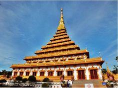 thailandhere: พระธาตุหนองแวง ริมบึงแก่นนคร ขอนแก่น - Prathat Ngo...