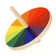 optischer farbmischer design ludwig hirschfeld-mack 1924 kreisel aus ahornholz, 7 farbscheiben aus bedrucktem karton ø 10 cm, 123 g 42,00 € inklusive 19% ust zzgl. versandkosten