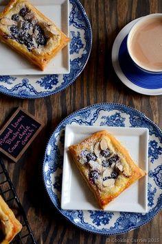 Almond Lemon Blueberry Cream Cheese Danish Spring Recipe | Vegetarian www.cookingcurries.com