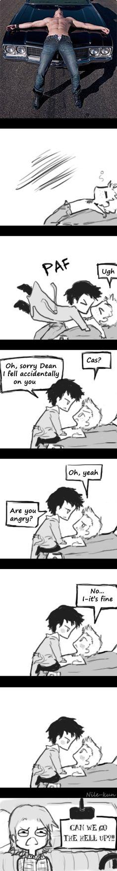 I am dying!    It's fine Cas, It's fine by ~Nile-kun on deviantART