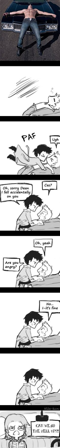 It's fine Cas, It's fine by ~Nile-kun on deviantART