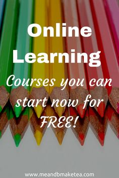 Online Learning Free Courses You Can Start NOW! - Online Courses - Ideas of Online Courses - best online learning courses you can start now for free. Free Courses, Online Courses, Free College Courses Online, Online Training Courses, Importance Of Time Management, Learning Courses, Learning Websites, Educational Websites, Educational Crafts