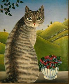 Big grey cat - Elsa Moosbrugger Jacob