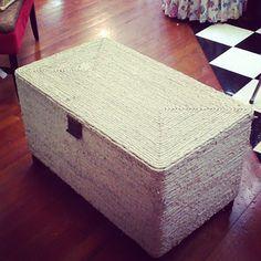 Untitled   Flickr - Photo Sharing! Www.sassyfrassco.com Anacortes WA. Seagrass storage bench ottoman with storage. Beach cottage chic
