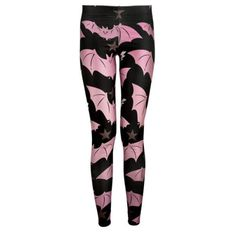 Pink and Black Bat Hot Gothic Star Stretchy Topic Trendy Leggings Graphic Print Sport Outfits, Summer Outfits, Cute Outfits, Sports Leggings, Workout Leggings, Cute Plus Size Clothes, Batman, Black Bat, Geek Fashion