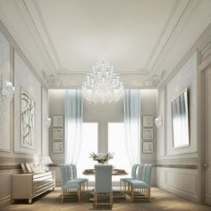 Residential projects - abudhabi, qatar, dubai - traditional - #dinningroom Spaces - Other Metro - IONS DESIGN- DUBAI