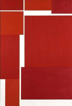 Ilya Bolotowsky, Vibrant Reds, 1971, acrylic on canvas, Smithsonian American Art Museum, Gift of Ira S. Agress
