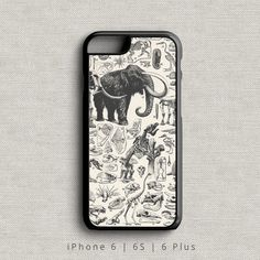 Dinosaur Phone Case iPhone 6 6S and 6 Plus by MichaelEllisCases
