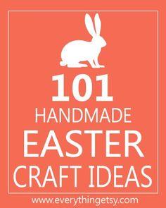 101 Handmade Easter Craft Ideas #easter #eastercrafts #diy