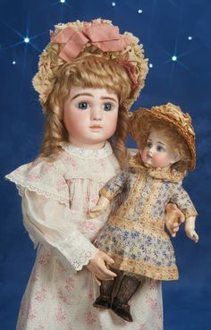 Theriault's Antique Doll Auctions--large doll by Steiner-small doll--Sonneberg