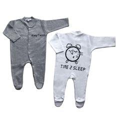 Ολόσωμα μακρυμάνικα φορμάκια για δίδυμα Time 2 Sleep Winter Collection, Twins, Onesies, Baby, Clothes, Shopping, Fashion, Outfits, Moda