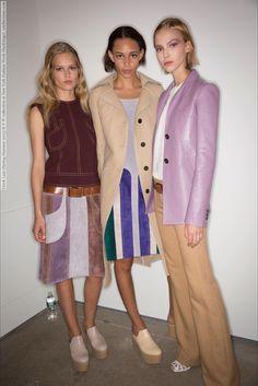Derek Lam (Spring-Summer 2015) R-T-W collection at New York Fashion Week (Backstage)  #DerekLam #NewYork See full set - http://celebsvenue.com/derek-lam-spring-summer-2015-r-t-w-collection-at-new-york-fashion-week-backstage/