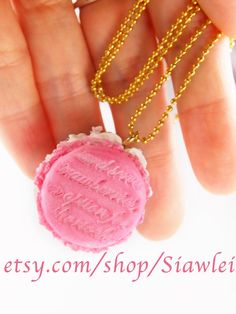 Hey, I found this really awesome Etsy listing at https://www.etsy.com/listing/124878718/sweets-macaron-necklace