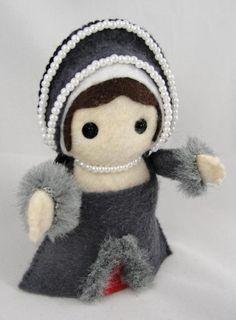 Anne Boleyn Execution Felt Doll