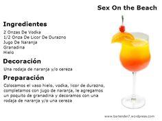 Como preparar un sex on the beach - trago y coctel