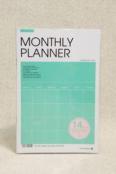 Grüner A5-Monatsplaner