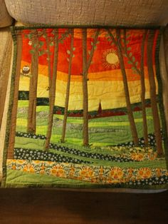 Spring quilt but wonder about using the forest stamp that looks similar and sponging the back ground?