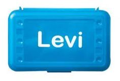 Personalize school supplies, lunch boxes and crayon boxes with your child's name!