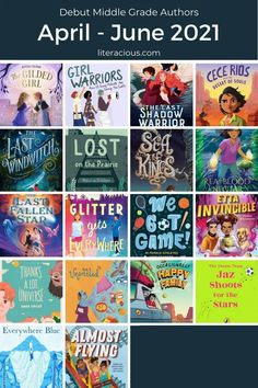 61 Debut Middle Grade Authors in 2021 - April-June