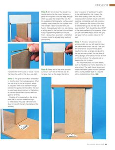 Dollhouse Miniatures how to make sliding doors page 2