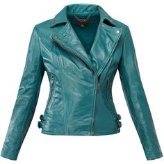 Muubaa Malachite 'Chello' Leather Biker Jacket (4.290 ARS) ❤ liked on Polyvore featuring outerwear, jackets, coats, blue, coats & jackets, real leather jackets, rider leather jacket, fitted leather jackets, motorcycle jacket and blue motorcycle jacket