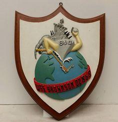 "Vintage U.S. Navy Wood/Metal ""USS Brownson DD868"" Commemorative Wall Plaque/Sign"