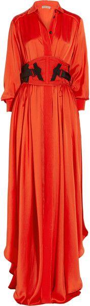 BOTTEGA VENETA Silk-blend Maxi Dress     dressmesweetiedarling