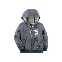 "Toddler Boy Carter's ""Varsity Football"" Zip Hoodie, Light Grey"
