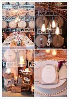 Wine Barrels and Industrial Chic Wedding Decor at The Lab Bay Area wedding event in Sonoma, CA by 100 Layer Cake- November 16, 2012