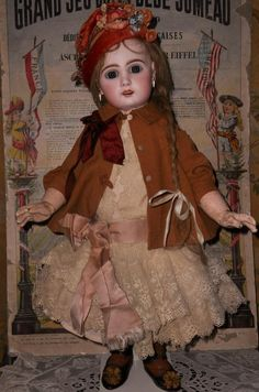 """~~~ Beautiful French Bisque Bebe """" Mlle. Jumeau """" Size 8 ~~~ from whendreamscometrue on Ruby Lane"""