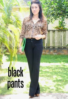a week of work wardrobe basics: black pants. #workwardrobe