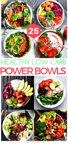 25 Insta-Worthy Low Carb Power Bowls To Add To Your Weekly Keto Meal Prep Line-Up - - 25 healthy power bowl recipes for breakfast, lunch, and dinner! These low carb keto-friendly power bowl recipes are easy and perfect for meal prep! Healthy Dinner Recipes, Low Carb Recipes, Diet Recipes, Breakfast Recipes, Breakfast Healthy, Protein Recipes, Vegetarian Recipes, Chicken Recipes, Breakfast Ideas