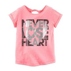 Support her active lifestyle with this girls' Carter's comfortable active tee. Toddler Fashion, Toddler Outfits, Kids Outfits, Custom T Shirt Printing, Printed Shirts, Only Play, Shirt Print Design, Girls Tees, Girl Bottoms