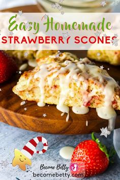 Light as a feather and rich in the taste of fresh strawberries, this Strawberry Scone recipe is lightened up in time for the New Year. You don't have to wait until strawberries come into season to enjoy this recipe. I've even included ways dozens of flavor suggestions to inspire you more to play with the flavors here. Click through for the full recipe and easy to follow directions! | Become Betty @becomebetty #baking #howtobake #scones #easysconerecipe #strawberryscones #becomebetty Trader Joes Vegetarian, Trader Joes Food, Vegetarian Recipes Easy, Snack Recipes, Trader Joe's, Breakfast Recipes, Baking Recipes, Best Trader Joes Products, Strawberry Scones