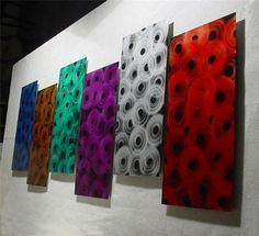 Rings6 / Abstract Painting a Metal Wall Art Sculpture by Niderart, $240.00...  Oh my!!  Love this!!