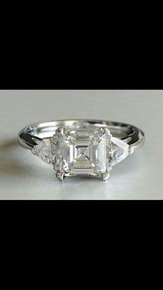 Ascher and trillion cut diamonds