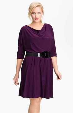 Adrianna Papell Dolman Sleeve Flare Dress (Plus) available at #Nordstrom
