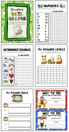 Empower your K-1 students by teaching them how to set goals, gather their own data, and engage in self-reflection. Age-appropriate forms and graphs are included in this pack... great for parent-teacher conferences, too. (41 pages, $)
