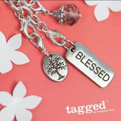Blessed Tree of Life Tagged #Necklace by #Origami Owl from StoriedCharms.com