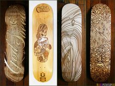 Laser cutted Skateboard Decks