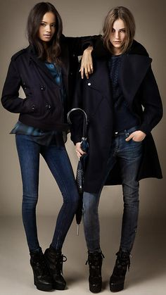 Burberry Brit Autumn/Winter 2012..wonder how they stand on legs that look like pins? And I'm still pinning it